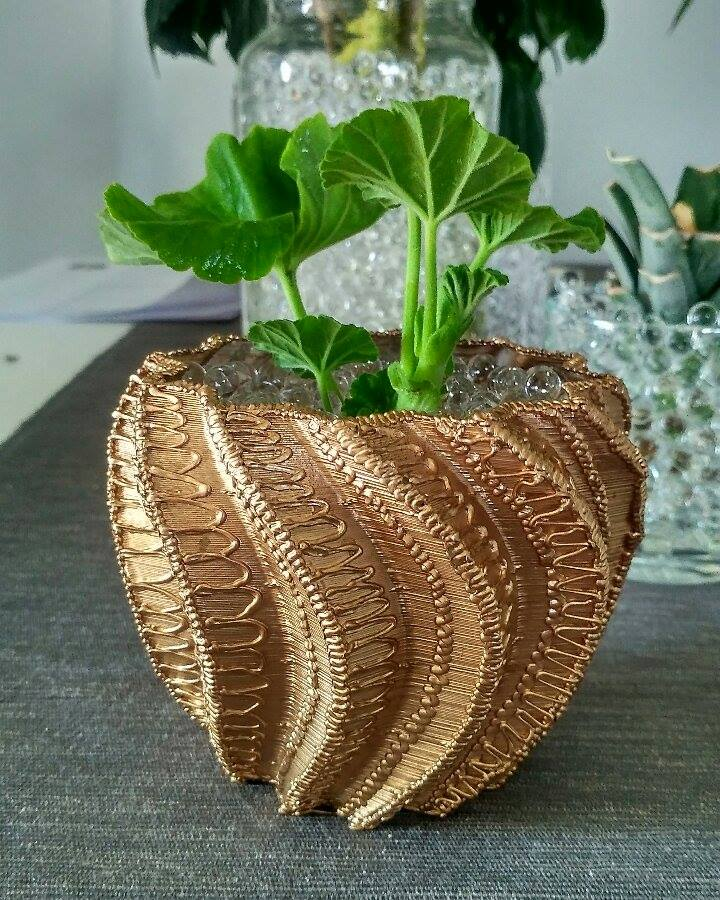 3D печатный цветочный горшок