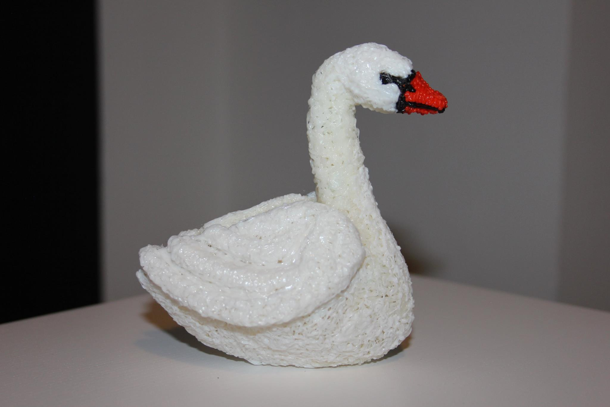 swan 3d painted