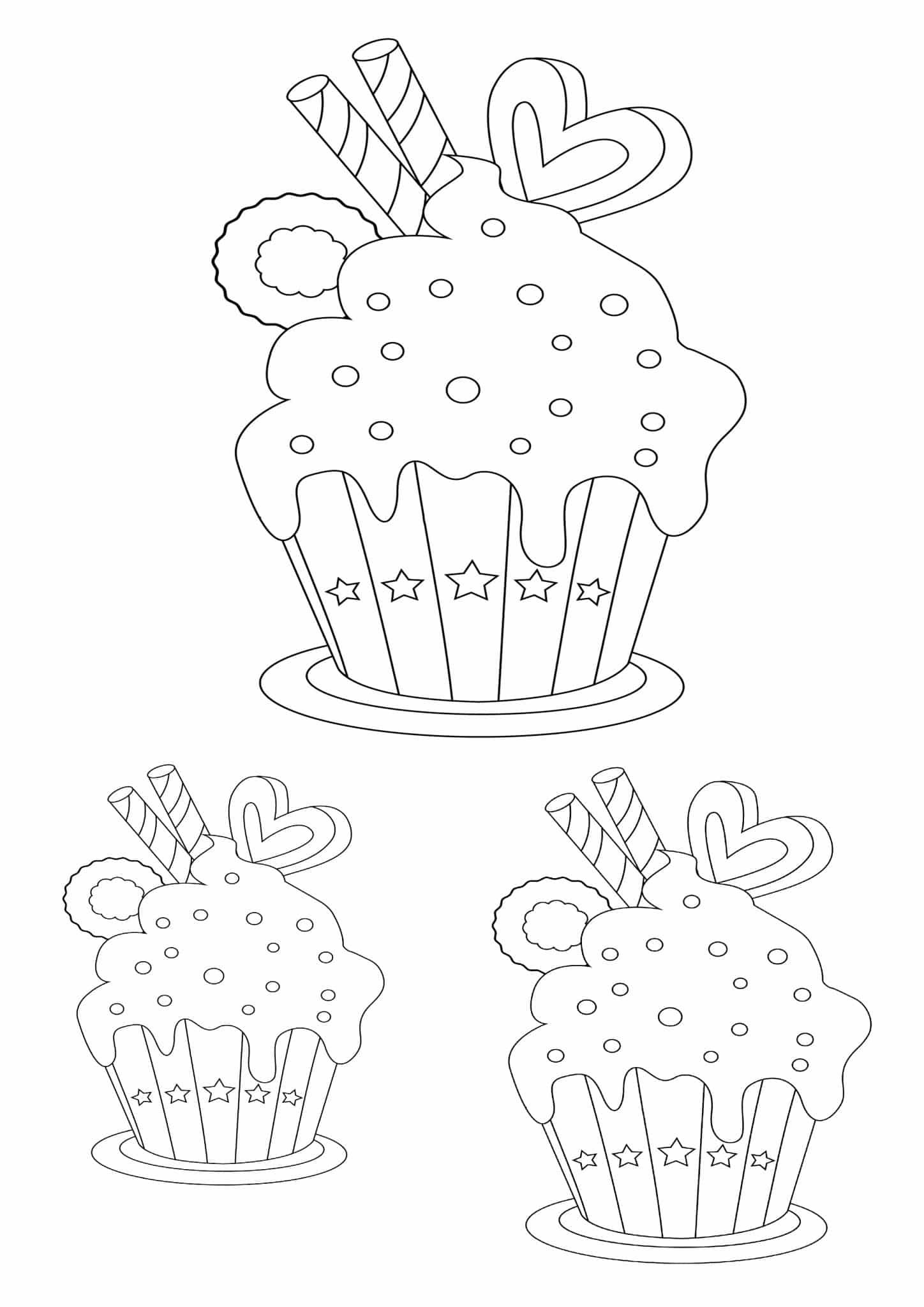 cupcake stencil fun