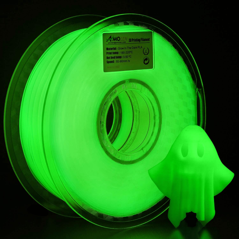 HATCHBOX Glow-in-the-dark PLA
