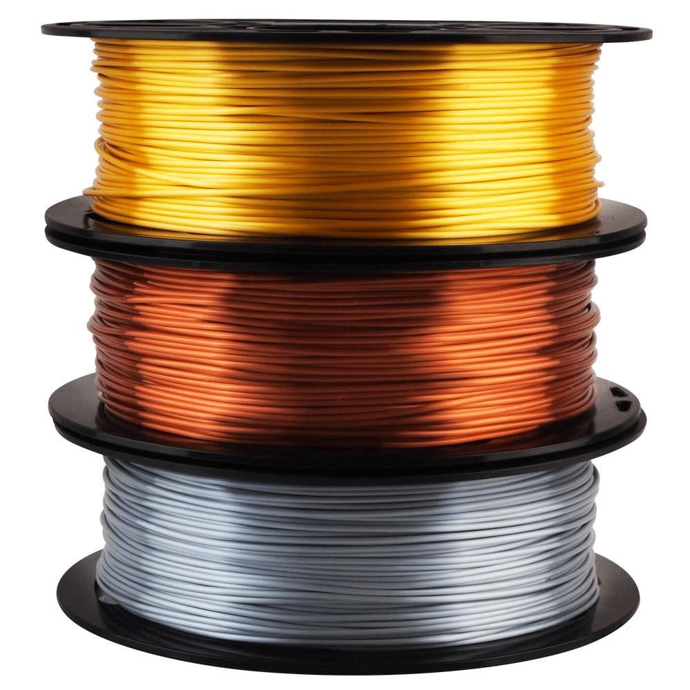 MIKA3D Silk, Gold, Silver, Copper, PLA